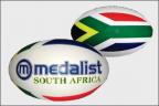 Rugby Balls  ::  SA flag
