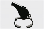 Whistles & Lanyards  ::  Plastic Whistle Finger Grip